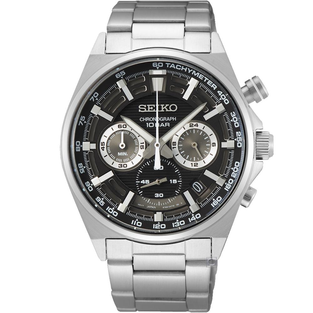 SEIKO 精工 CS 極限競速三眼計時腕錶-8T63-00T0D(SSB397P1)