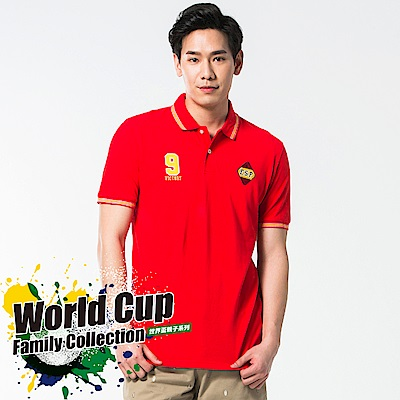 bossini男裝-短袖圓領運動風POLO衫01紅