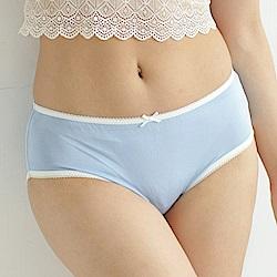 內褲 清新甜美100%蠶絲中高腰三角內褲 (藍) Chlansilk 闕蘭絹