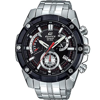 EDIFICE粗曠復古質感螺絲設計賽車計時錶(EFR-559DB-1)黑面X銀針49mm