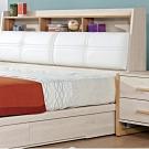文創集 比特利 現代5尺皮革雙人床頭箱(不含床底&床墊)-151.5x29x102cm免組