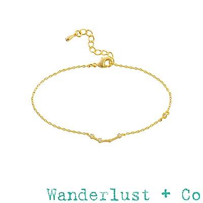 Wanderlust+Co 澳洲品牌 牡羊座手鍊 金色鑲鑽手鍊 ARIES