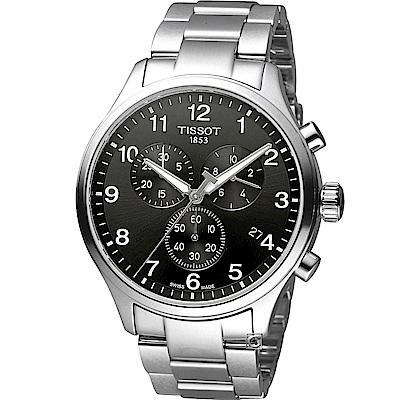 TISSOT 韻馳系列經典計時腕錶(T1166171105701)黑/45mm