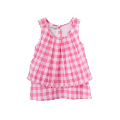 小雛菊 MARGUERITE 粉格球球短裙套裝 (90cm~120cm)