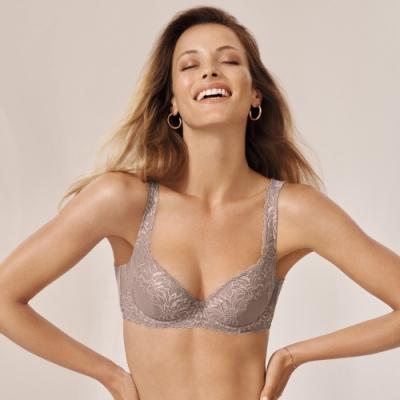 黛安芬-輕塑美型系列 包覆透氣 D-E罩杯內衣 焦糖棕