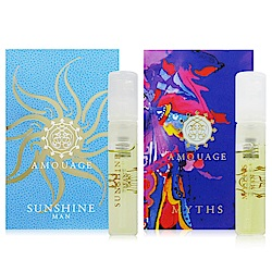 AMOUAGE SUNSHINE燦陽微暖 + MYTHS神話 2ml 男性香水針管2入組