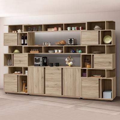 時尚屋 凱希橡木10.3尺餐櫃組 寬309.5x深40x高196.8公分