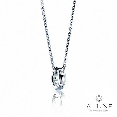 A-LUXE 亞立詩 Petite系列 Single白K金美鑽項鍊