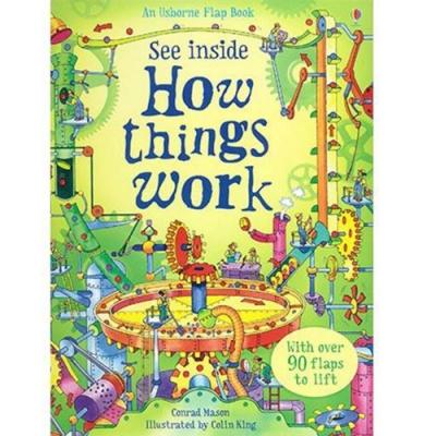 See Inside How Things Work 翻翻學習書:機器大觀精裝本