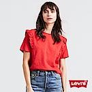 Levis T恤 女裝 圓領 荷葉邊 紅色