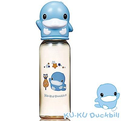 KU.KU酷咕鴨-星燦造型PPSU標準奶瓶-240ml (藍/粉)