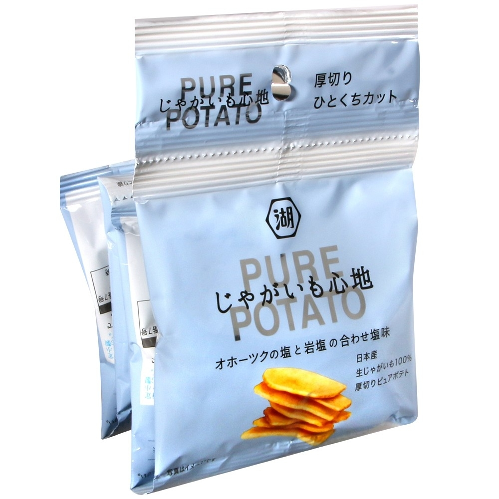 湖池屋 4連PURE POTATO鹽味薯片(52g)