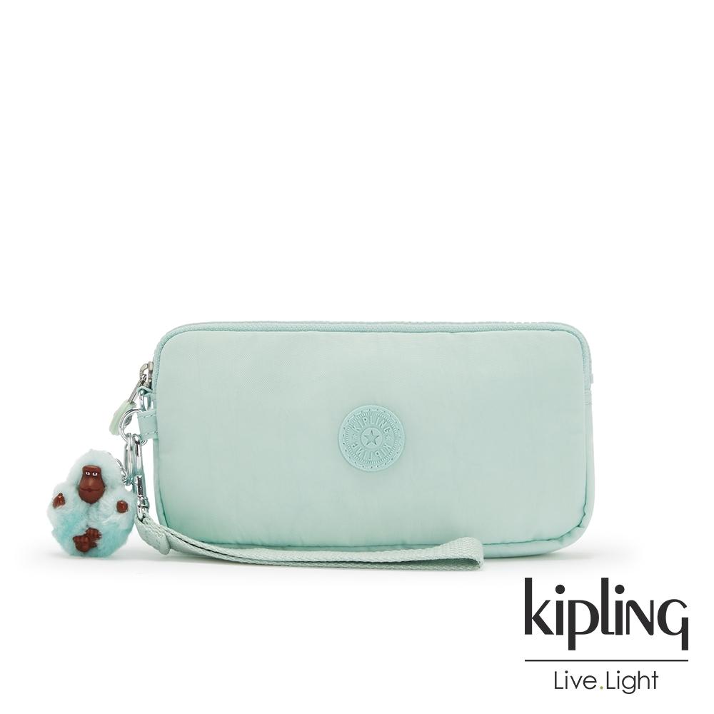 Kipling 神秘薄荷藍手拿包-LOWIE