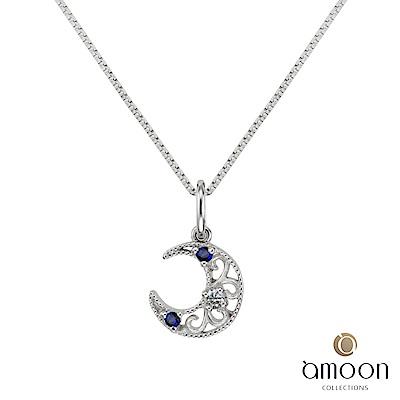 amoon 璀璨星空系列 月光 K金鑽石墜子 送項鍊