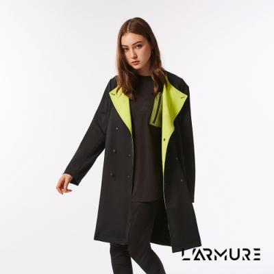 L ARMURE 女裝 TCool 撞色翻領 外套 螢光綠