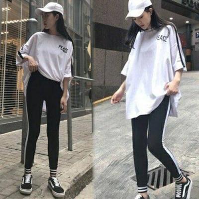 【韓國K.W.】好感印象活力甜心運動套裝-2色