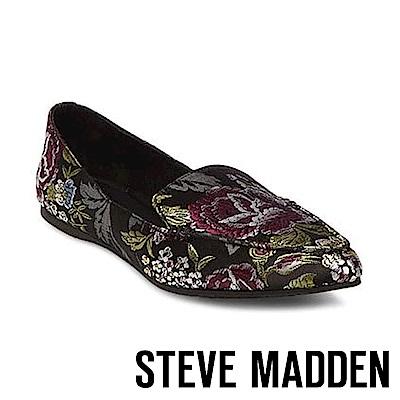STEVE MADDEN-FEATHER 尖頭平底鞋-紋綠色