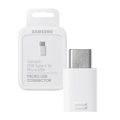 SAMSUNG三星 原廠Micro USB to Type C轉接器 白色(公司貨-盒裝)