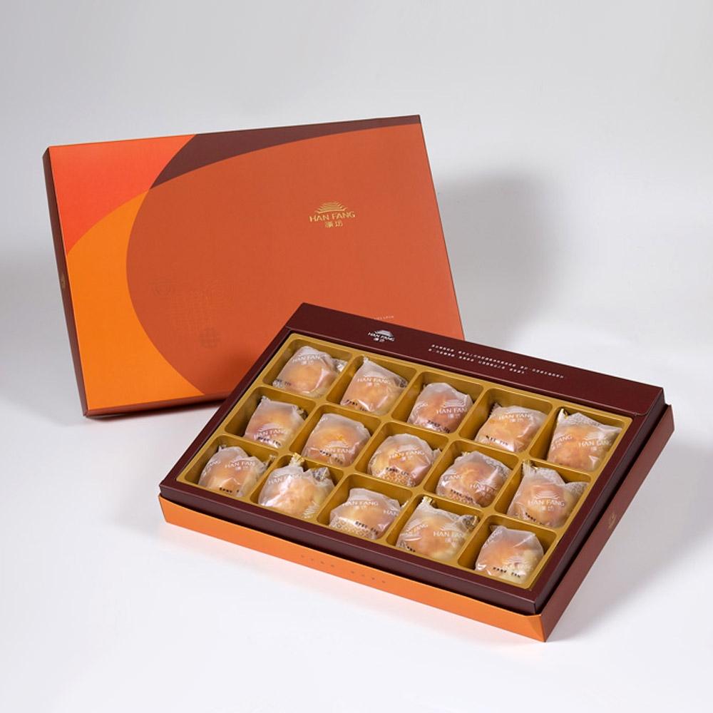 【漢坊月餅/糕餅】御點 沖繩黑糖蛋黃酥禮盒(15入x3盒)