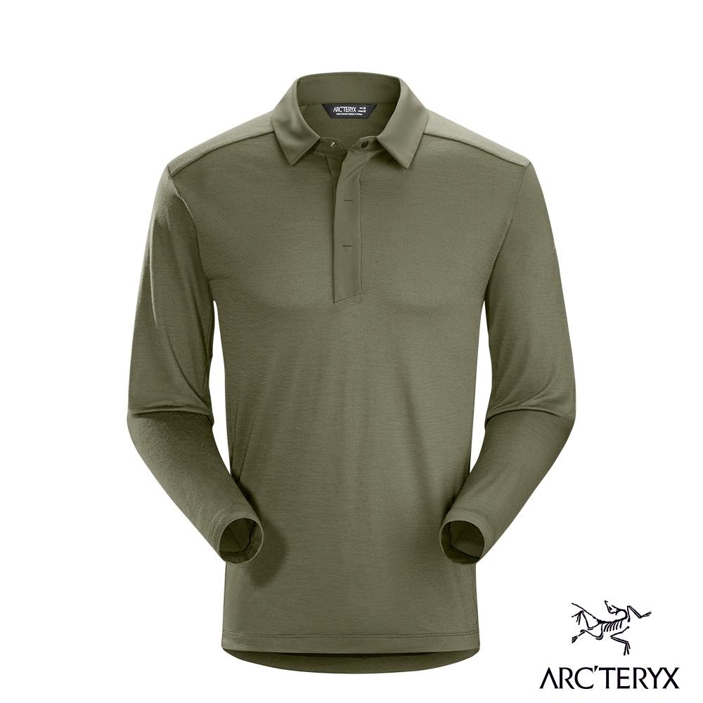 Arcteryx 始祖鳥 男 24系列 A2B 羊毛 長袖POLO衫 森林綠