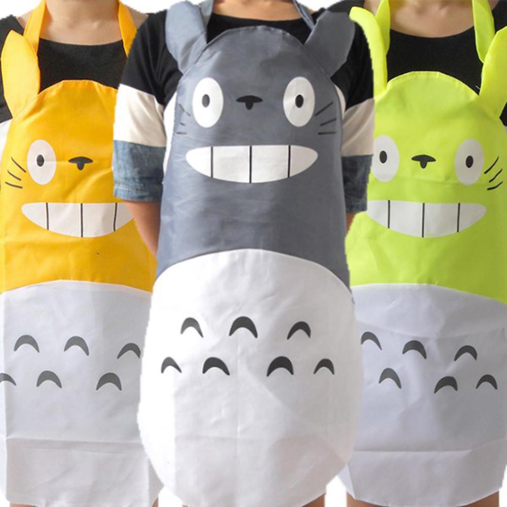 BD001防水防污龍貓圍裙創意圍裙龍貓廚房圍裙咖啡廳工作圍裙
