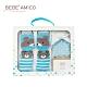 BEBE AMiCO-童話襪+三角圍巾禮盒-湖水藍 product thumbnail 1