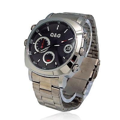 CHICHIAU 奇巧 1080P偽裝防水金屬帶手錶Y6-夜視8G微型攝影機