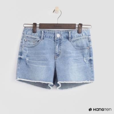 Hang Ten-童裝-潮流牛仔破褲-淺藍