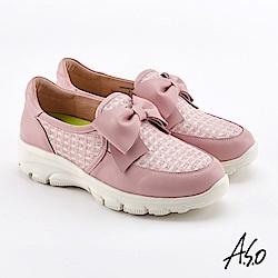 A.S.O  超彈力 蝴蝶結超彈力休閒鞋 粉
