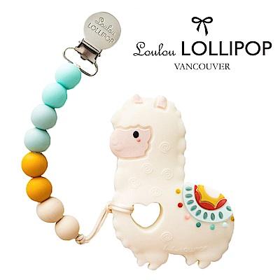 加拿大Loulou lollipop嬰幼兒草尼馬造型 固齒器組/奶嘴鍊夾-民族風