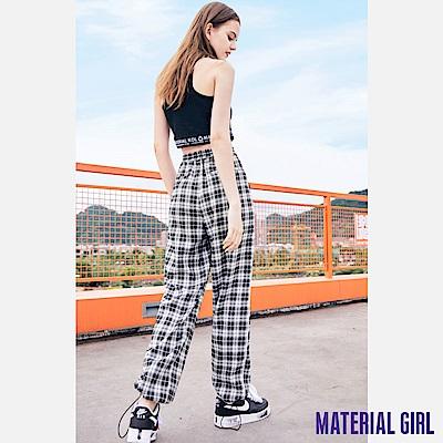 MATERIAL GIRL 經典黑白格紋休閒束口褲【20秋季款】-A3210