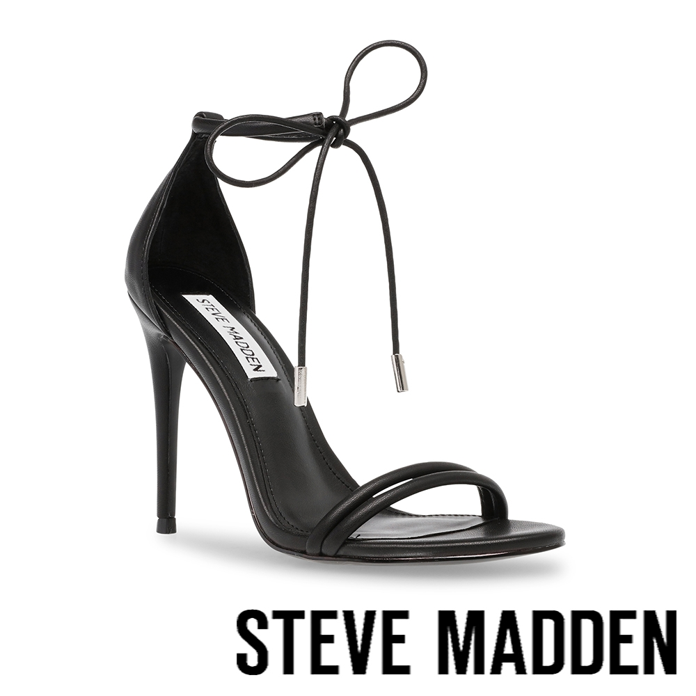 STEVE MADDEN-GISSELLE 綁帶繞踝細跟高跟鞋-黑色