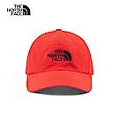 The North Face北面男女款紅色防曬透氣運動帽 CF7WWU5