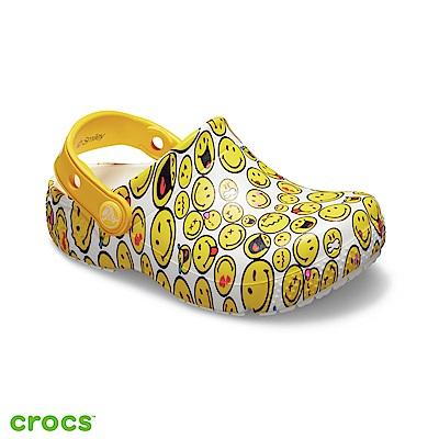 Crocs 卡駱馳 (童鞋) 趣味學院笑臉小克駱格 205767-90H