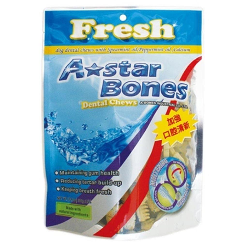 A Star Bones 亮白雙頭潔牙骨 80G 六包組