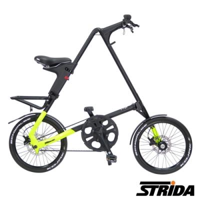 英國STRiDA 速立達 SX版18吋單速碟剎/皮帶傳動/折疊後可推行/三角形單車-平光黑