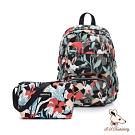 B.S.D.S冰山袋鼠 - 楓糖瑪芝 - 大容量附插袋後背包+側背小包2件組 - 熱帶雨林