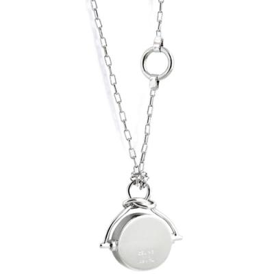 CELINE 銀色KNOT圓形墜飾項鍊