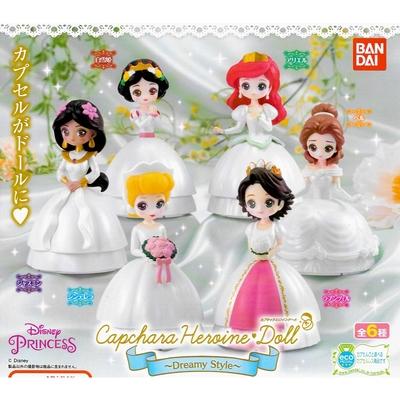 全套6款 日本正版 迪士尼公主 環保扭蛋 Dreamy Style 扭蛋 轉蛋 造型扭蛋 環保蛋殼 BANDAI - 659815