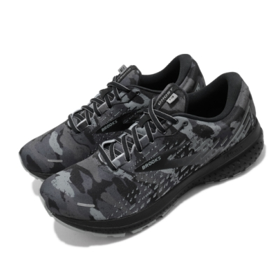 Brooks 慢跑鞋 Ghost 13 運動 男鞋 路跑 緩震 DNA科技 透氣 健身 球鞋 黑 灰 1103481D062