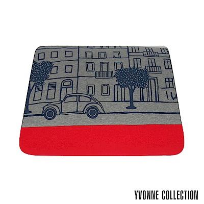 YVONNE COLLECTION 柏林街景單人四季被(5x7呎)- 暗灰/紅