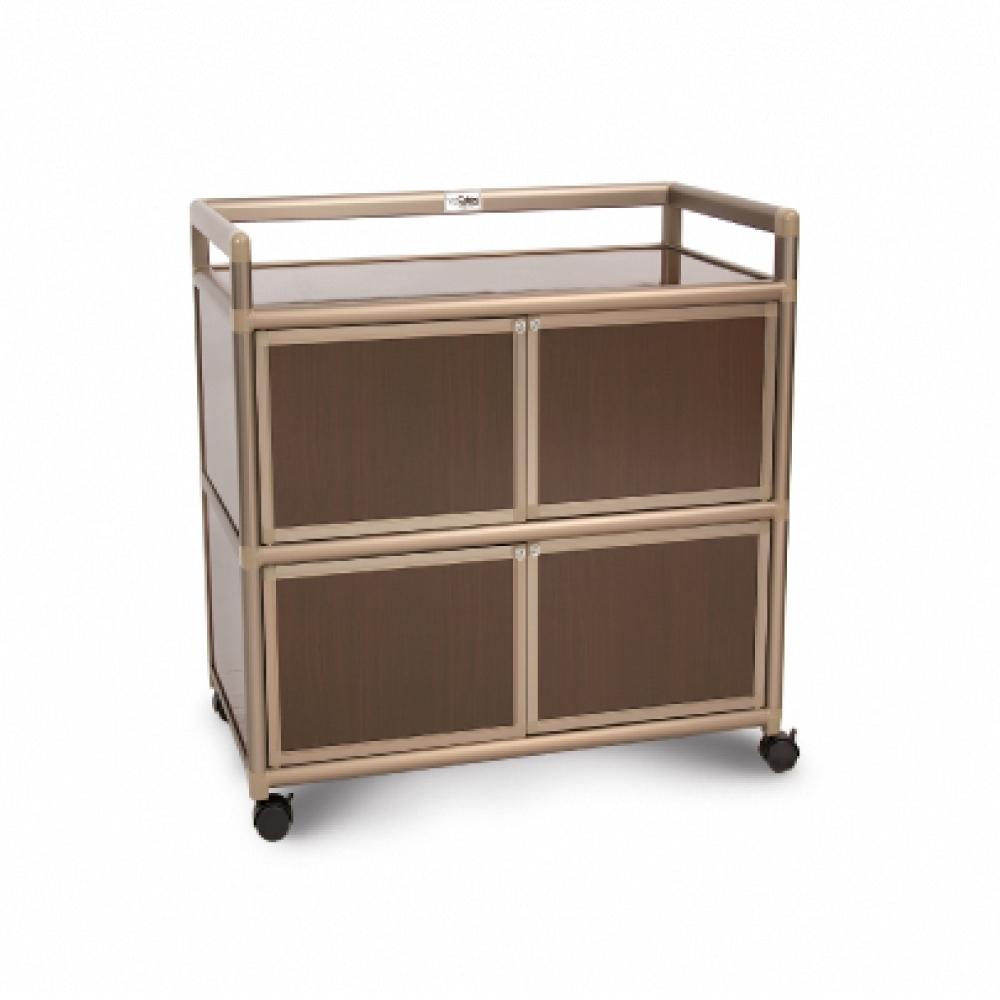 Cabini小飛象-黑桃木得意2.5尺鋁合金四門櫃73.5x50.8x83.6cm