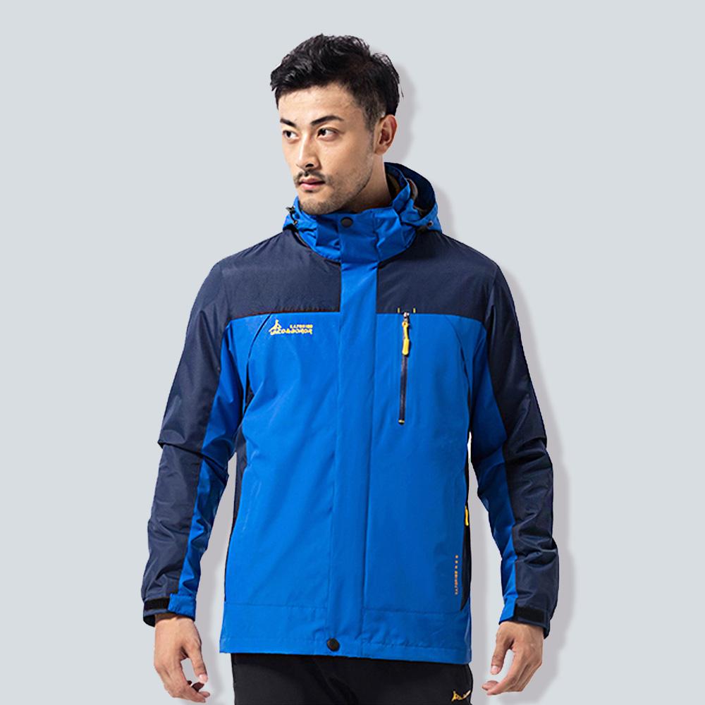 ANDYMAY2三穿戶外防風防雨機能外套-男款-彩藍