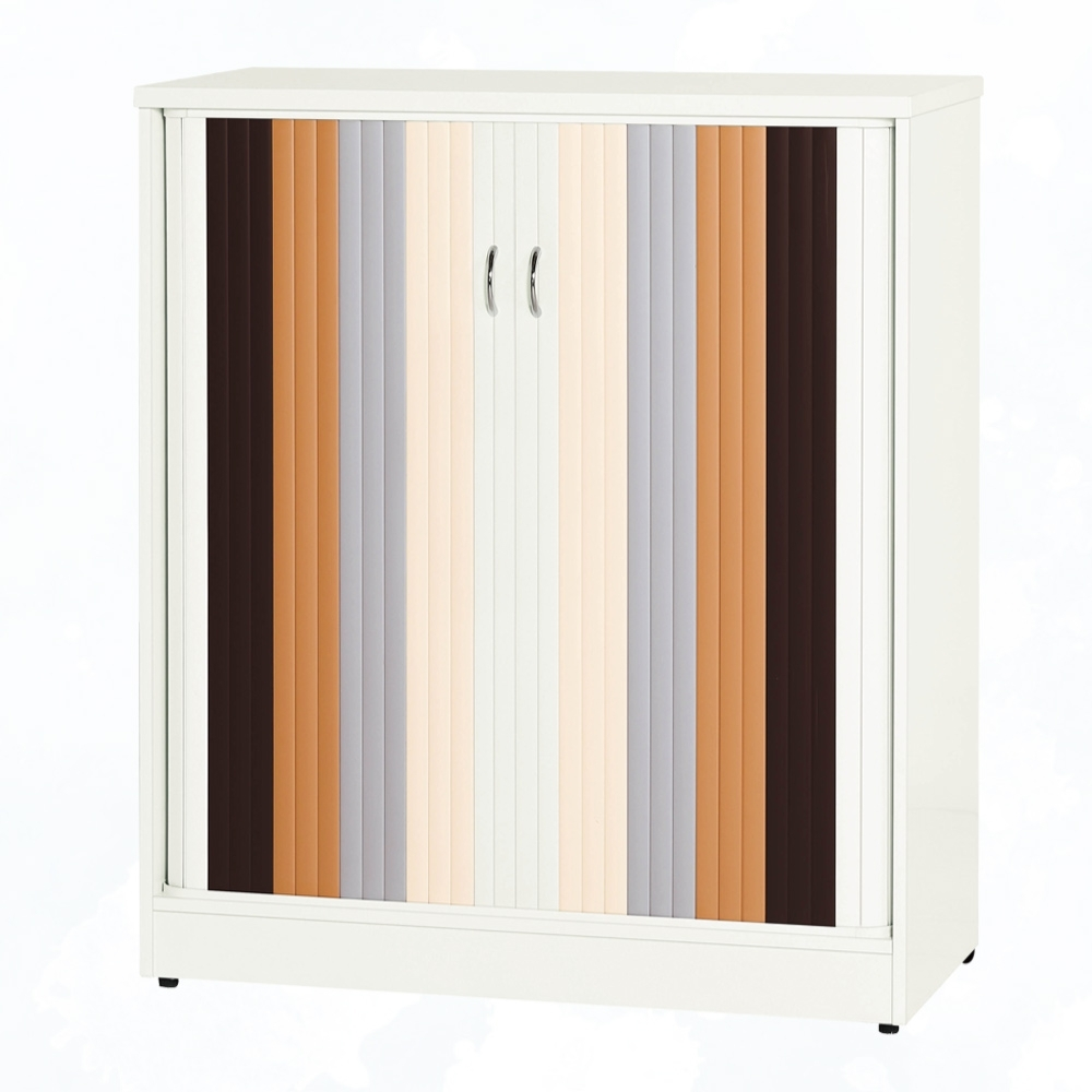 文創集 安倍 環保3尺南亞塑鋼拉合捲門置物櫃/收納櫃-88.5x40.8x103.5cm免組