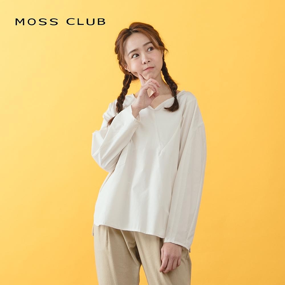 【MOSS CLUB】簡約風設計長袖-上衣(三色) product image 1