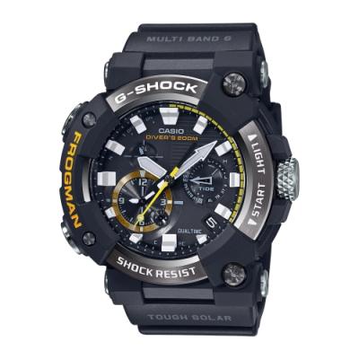 CASIO卡西歐 G-SHOCK 電波 藍牙 太陽能電力 蛙人錶 潛水級防水 GWF-A1000-1A_53.3mm