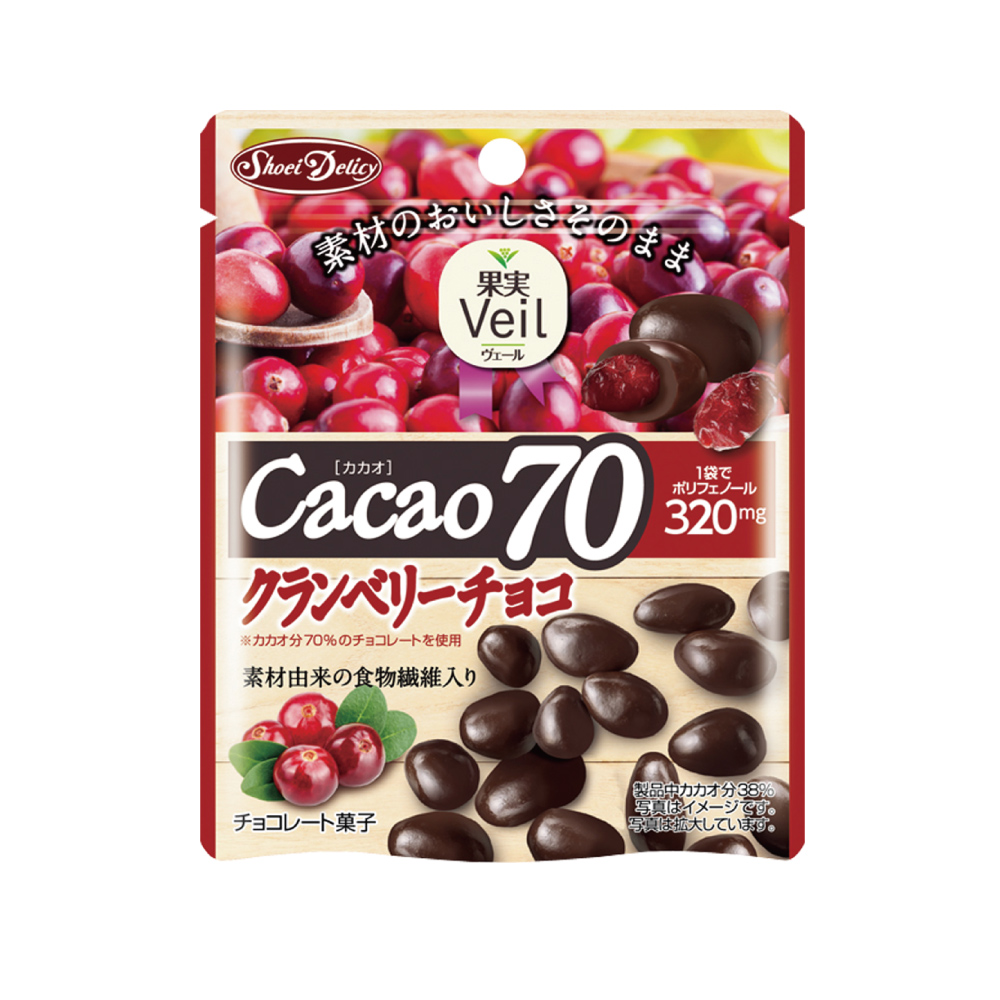 正榮 果實Veil蔓越莓乾可可70%巧克力立袋(41g)