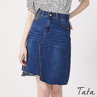 不規則切割刷破牛仔裙 TATA