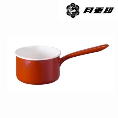 JIA Inc. 品家家品 月兔印-琺瑯單手牛奶鍋14cm 1.2L-紅色