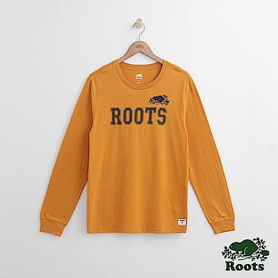 Roots 男裝- 周年系列 點狀字標長袖T恤-黃